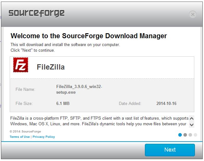 filezilla sourceforge