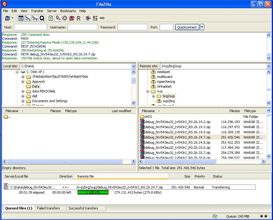 4512 (Filezilla client over ftp proxy) – FileZilla