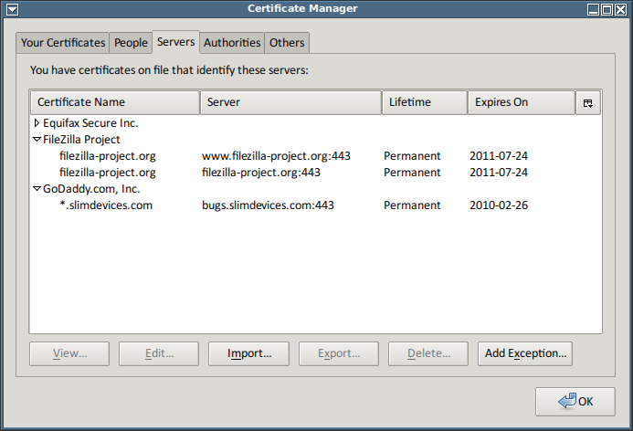 5633 (Be less trusting of trusted certificates) – FileZilla